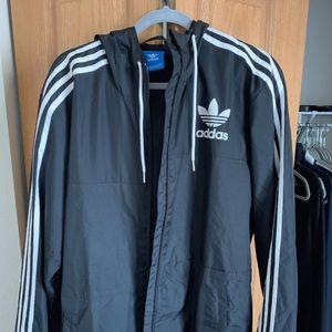 Adidas 3 stripe windbreaker